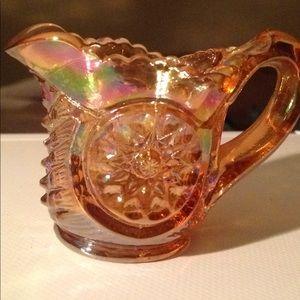 Miniature iridescent vintage pitcher